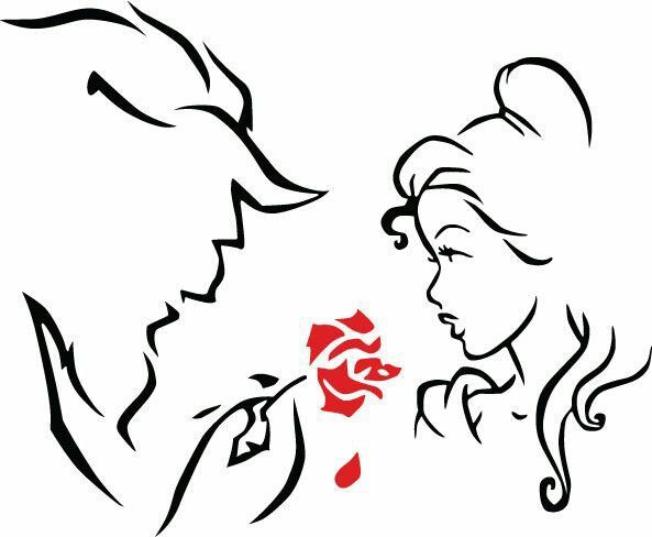 Beauty and the beast clipart black and white clipart library Beauty And The Beast Silhouette 87277 | WEBNODE | Tattoos- They Hurt ... clipart library
