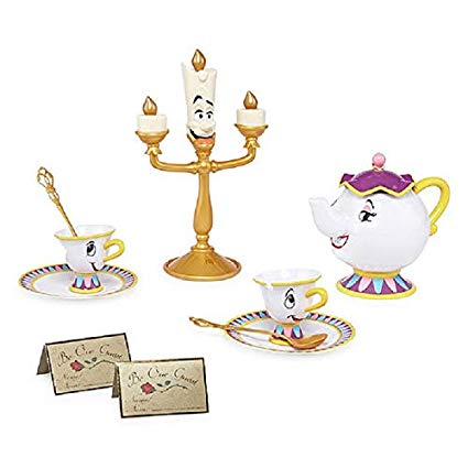 Beauty and the beast dishes scene clipart svg freeuse download Amazon.com: Disney Beauty and the Beast Tea Set: Kitchen & Dining svg freeuse download