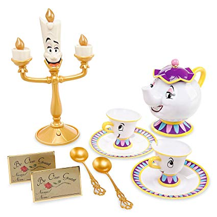 Beauty and the beast dishes scene clipart image Disney Beauty and The Beast Singing Tea Set image