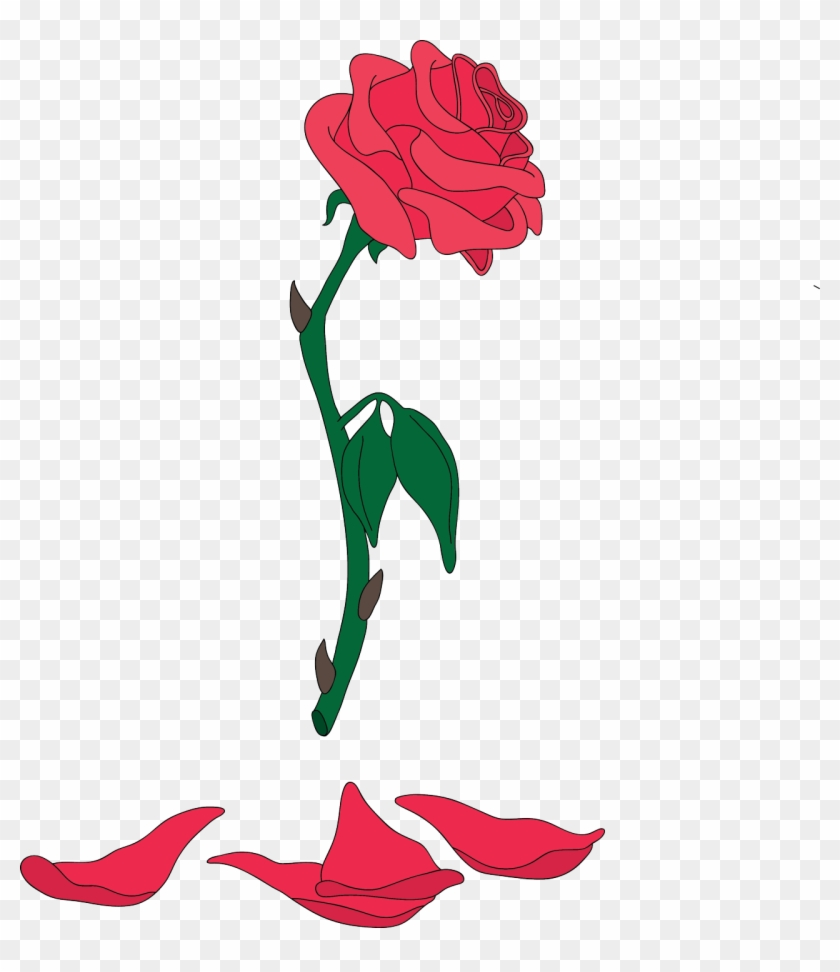 Beauty and the beast flower clipart svg library Clipart Rose Beauty And The Beast - Beauty And The Beast Png ... svg library