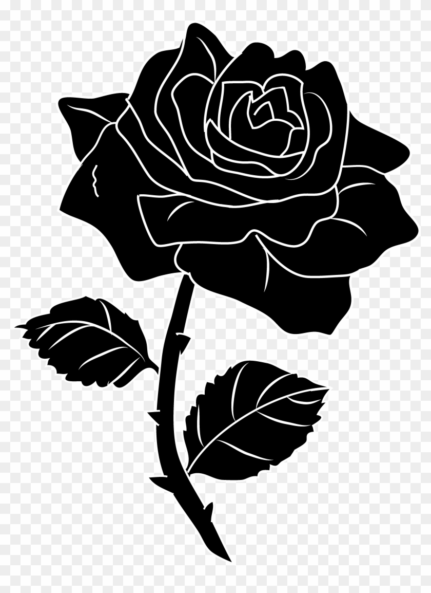 Enchanted rose clipart svg royalty free library 28 Collection Of Roses Clipart Black And White - Beauty And The ... svg royalty free library