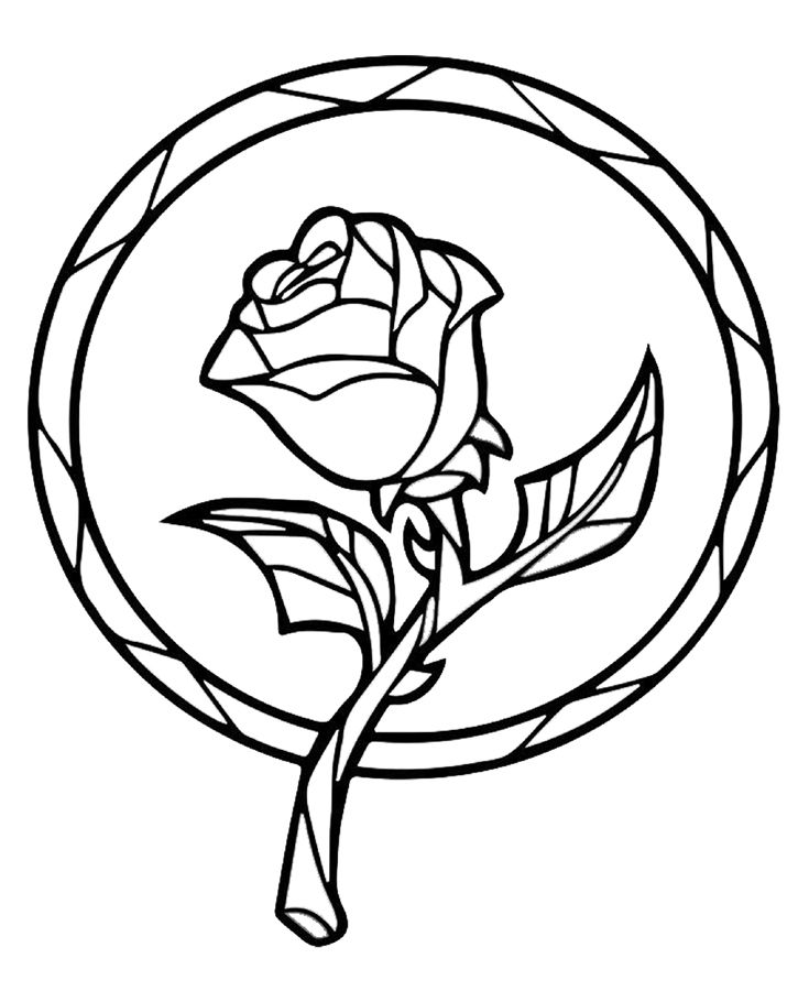 Enchanted rose beauty and the beast stained glass clipart svg free stock Beauty and the Beast Enchanted Rose Suncatcher! | Craftaholics ... svg free stock