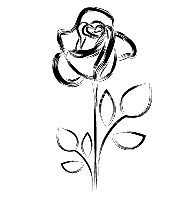 Beauty and the beast flower clipart black and white png free library Free Beauty And The Beast Black And White Clipart, Download Free ... png free library
