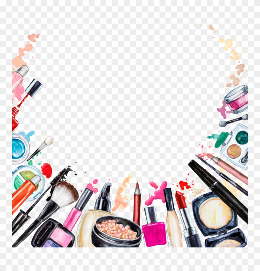 Beauty cosmetics clipart image Cosmetics Beauty Makeup Brush Clipart (#2262222) - PinClipart image