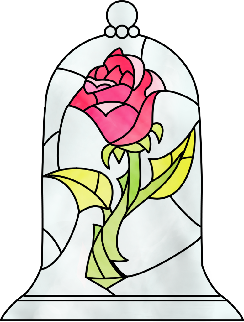 Stained glass cross clipart png download Beauty and the Beast Rose by Dosiguales on DeviantArt png download