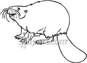 Beaver black and white clipart png royalty free download Smiling Black and White Beaver - Royalty Free Clipart Picture png royalty free download