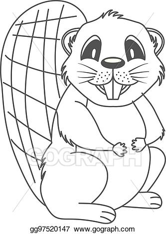 Beaver black and white clipart picture library Vector Art - Beaver. Clipart Drawing gg97520147 - GoGraph picture library