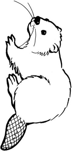 Beaver chewed wood black and white clipart