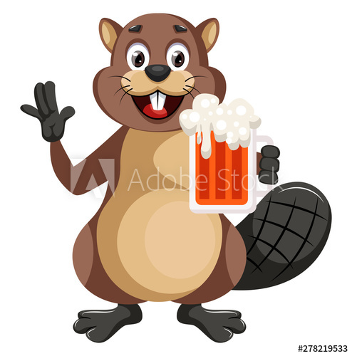 Beaver clipart with a beer picture free library Beaver holding beer, illustration, vector on white background. - Buy ... picture free library