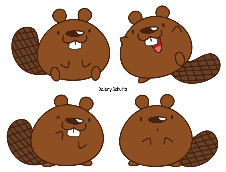 Beaver house clipart clip art royalty free download Chibi Beaver by Daieny.deviantart.com on @DeviantArt | varias mini ... clip art royalty free download