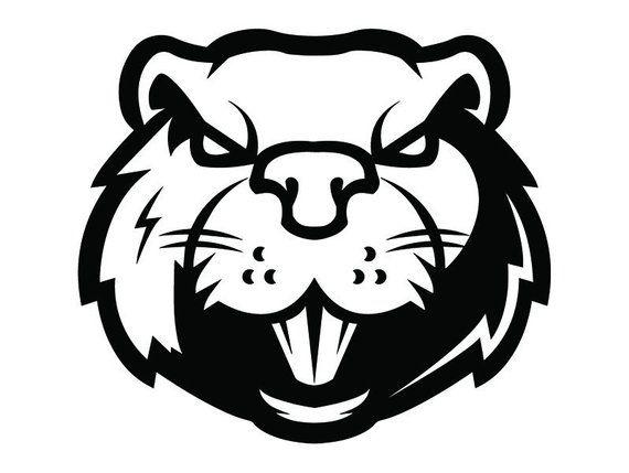 Beaver logo clipart svg stock Beaver #1a Head Face Animal Angry Cartoon College High School Team ... svg stock
