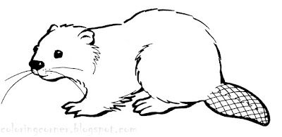 Beaver mother clipart to color picture library stock Beaver Coloring Pages ~ Printable Coloring Pages - Use the outline ... picture library stock