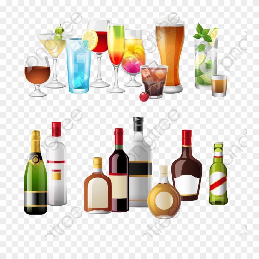 Bebidas alcoholicas clipart banner black and white stock Bebidas Alcoholicas Png - Happy Hour Drinks Png Clipart - Clipart ... banner black and white stock