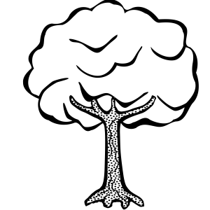 Tree Clipart Black and White (1000+ Exclusive) - Cloud Clipart banner freeuse download