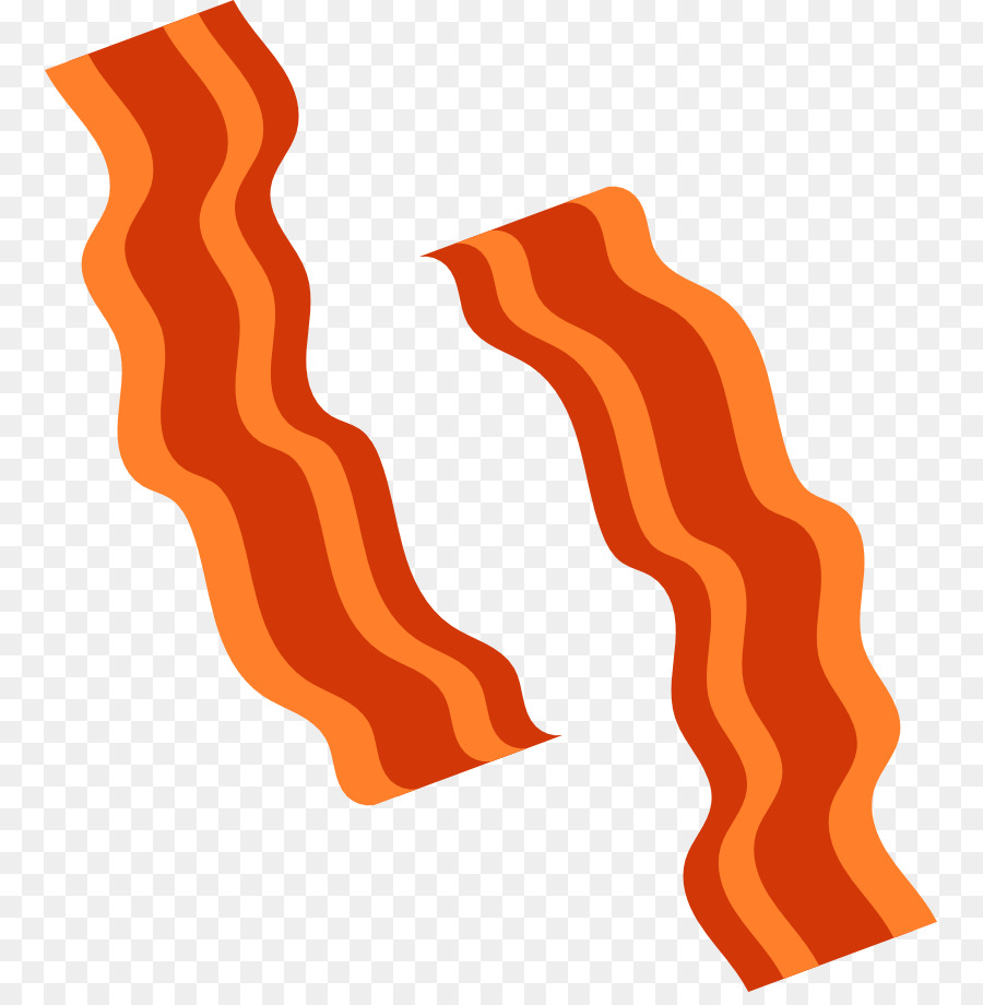Becon clipart vector royalty free download Background Orange png download - 817*908 - Free Transparent Bacon ... vector royalty free download