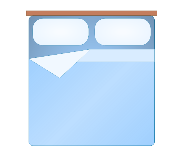 Bed top view clipart