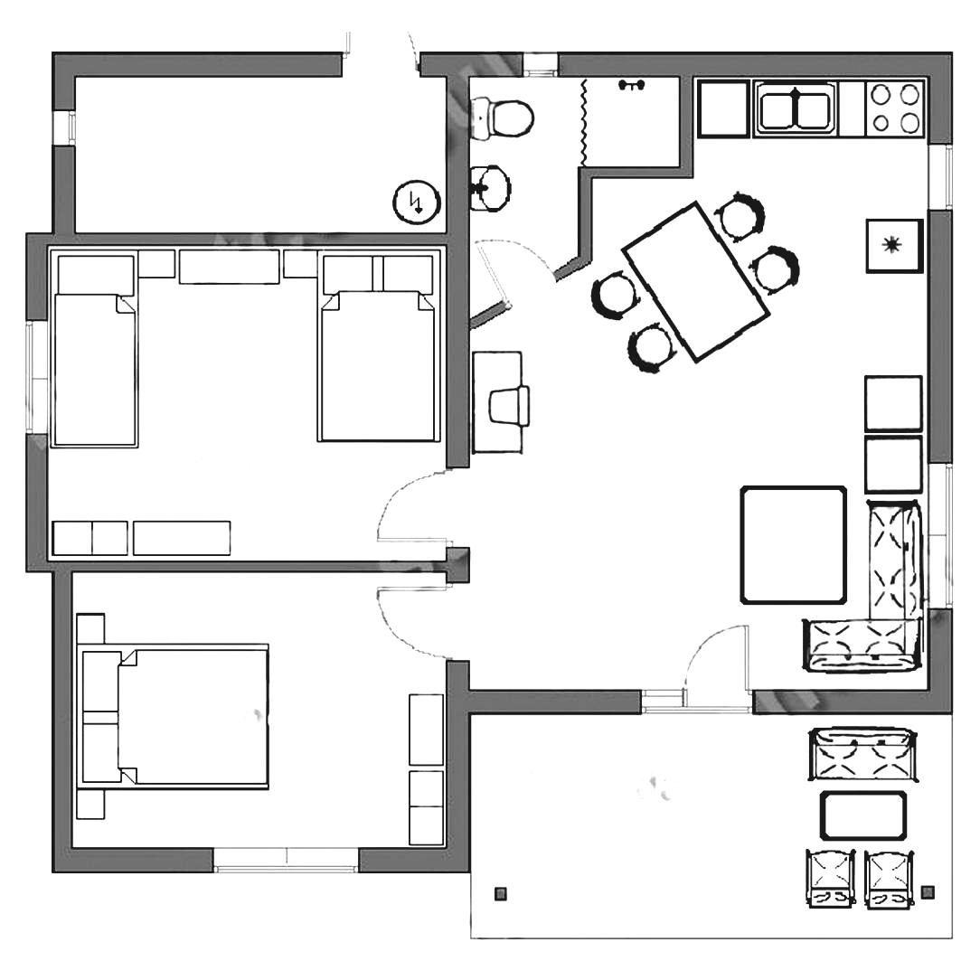Bed floor plan clipart graphic black and white 37 Basement Bedroom Floor Plan Clip Art, Interior Clipart House ... graphic black and white