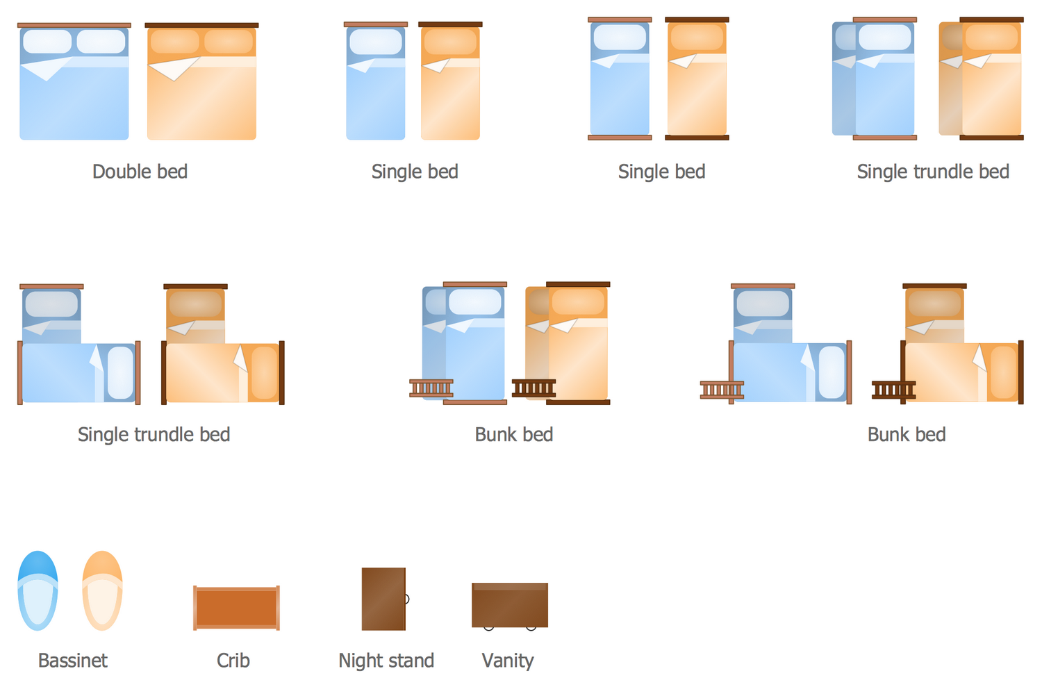 Bed floor plan clipart image transparent Floor Plans Solution | ConceptDraw.com image transparent