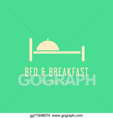 Bed logo clipart png download Vector Stock - Bed and breakfast concept symbol icon or logo ... png download