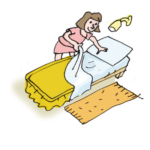 Make your bed clipart vector freeuse download Free Making Beds Cliparts, Download Free Clip Art, Free Clip Art on ... vector freeuse download