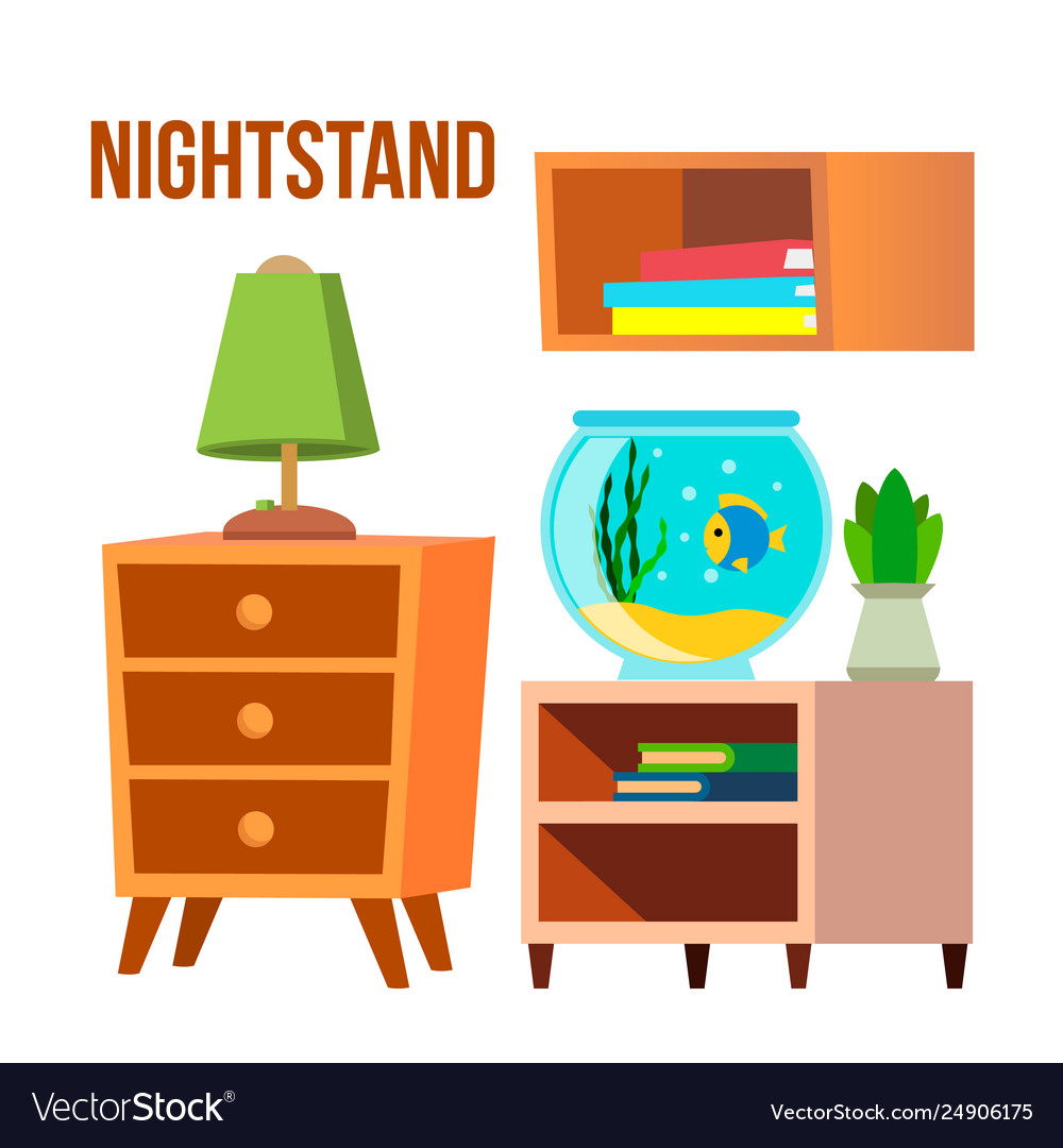 Bed side table clipart svg free download Nightstand bedside tables desks cartoon svg free download