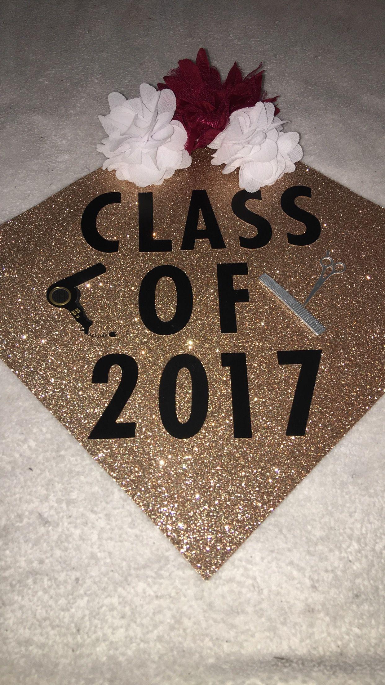 Bedazzled graduation caps clipart clip stock Graduation cap idea. Next stop cosmetology school #graduationcap ... clip stock