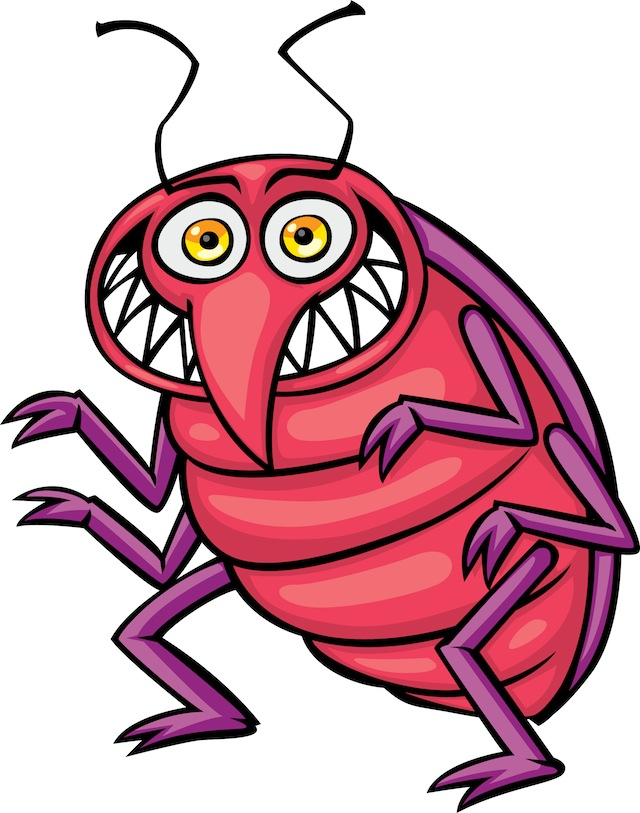 Free cartoon bug clipart image royalty free download Bed Bug Photos, Clipart Images & Pics: What do Bed Bugs Look Like? image royalty free download