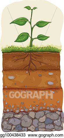 Bedrock clipart graphic freeuse stock Vector Stock - Soil layer illustration. Clipart Illustration ... graphic freeuse stock