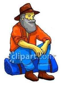 Bedroll clipart svg download Hobo Sitting on His Bedroll - Royalty Free Clipart Picture svg download