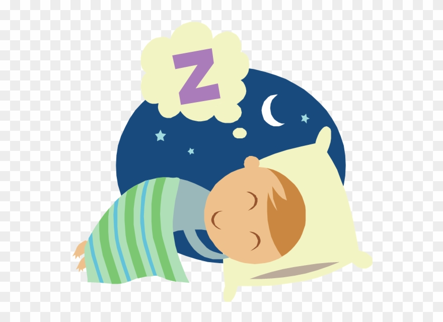 Clipart kid sleeping jpg black and white download Kids And Sleep - Cartoon Picture Of Bedtime Clipart (#236278 ... jpg black and white download