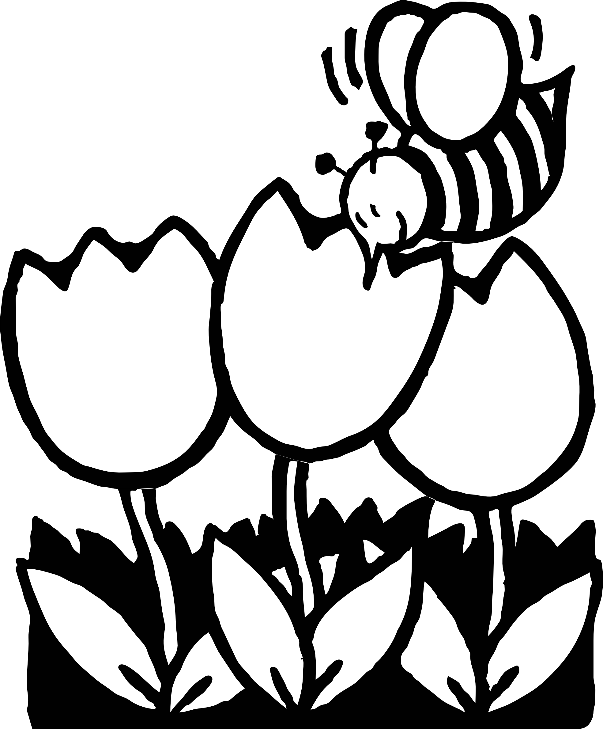 Flower clipart coloring clip freeuse library Bee Outline Drawing at GetDrawings.com | Free for personal use Bee ... clip freeuse library