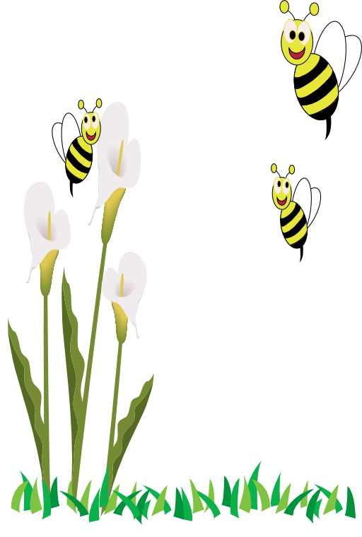 Bee with flower clipart png transparent library Bees And Flowers Clipart | i2Clipart - Royalty Free Public Domain ... png transparent library