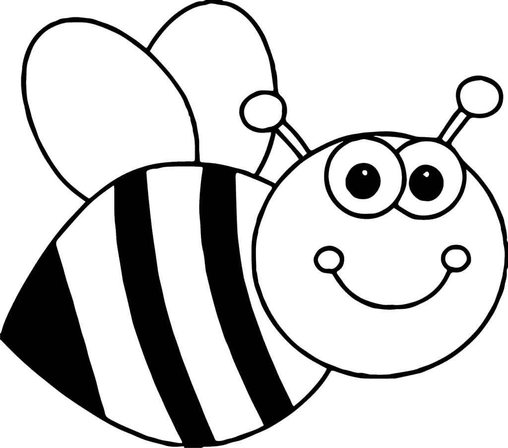 Cartoon honey bee clipart black and white image transparent library Honey Bee Clipart Book Kids Black and White - Clipart1001 - Free ... image transparent library