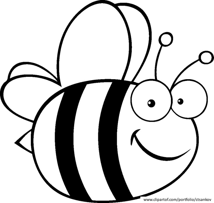 Bee black and white clipart vector transparent Bee black and white bee coloring clipart - WikiClipArt vector transparent