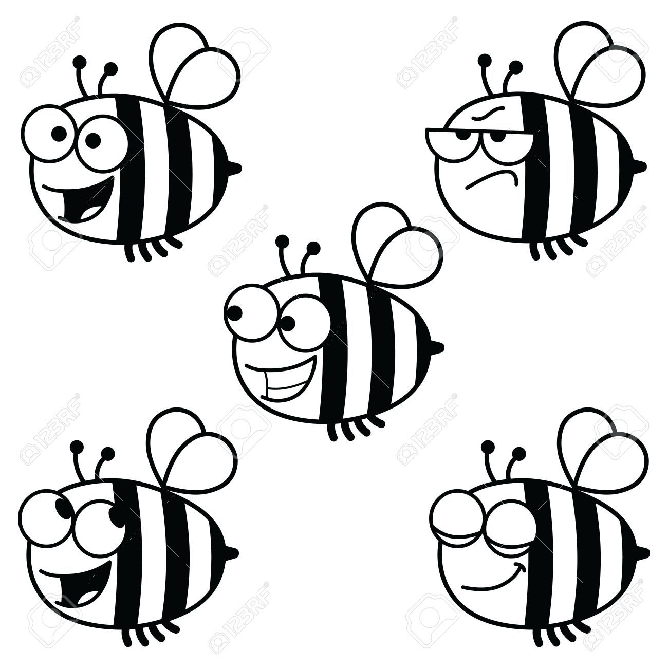 Bee black and white clipart clipart freeuse stock Bees black and white clipart 5 » Clipart Portal clipart freeuse stock