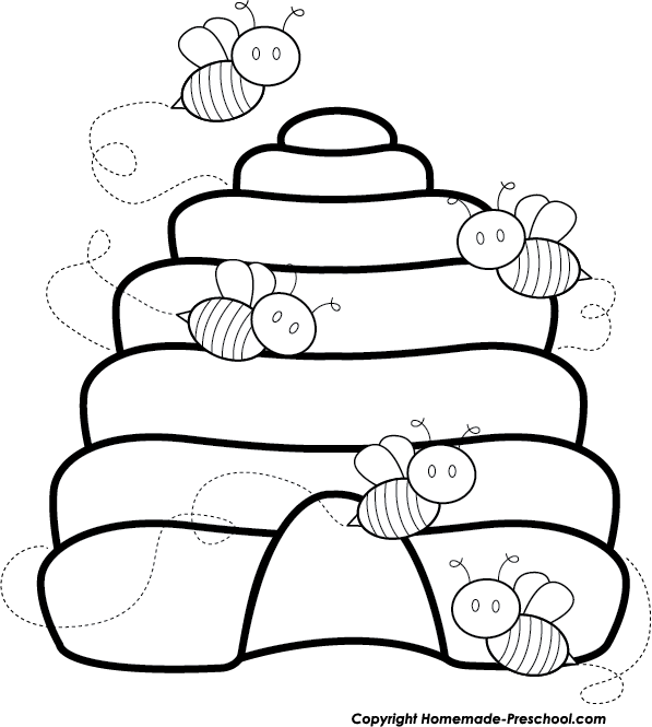 Bee with flower clipart black and white svg download Free Bee Clipart svg download