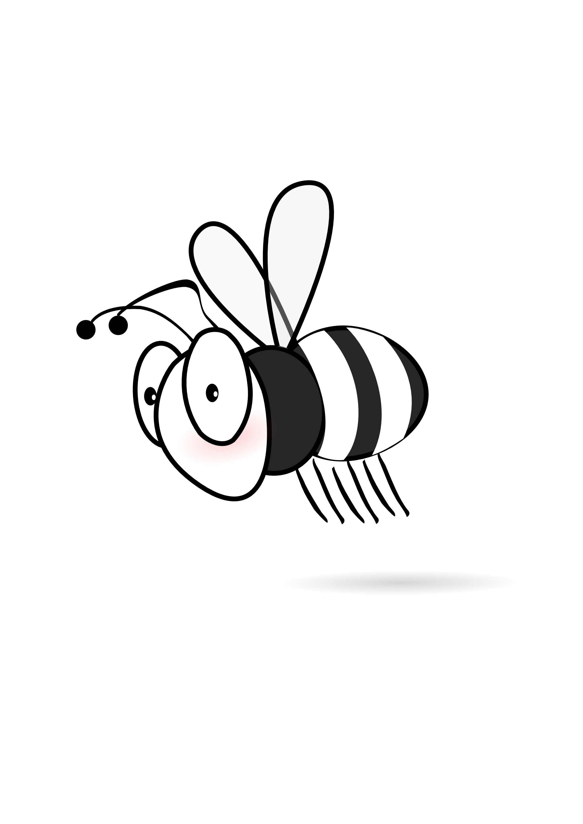 Bee with flower clipart banner royalty free stock Halloween bee clipart black and white | 3D Bee | Pinterest | Bees ... banner royalty free stock