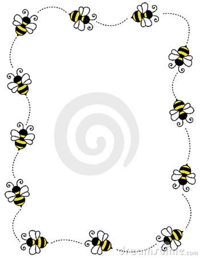 Bee border clipart free jpg stock Bug Border Clip Art Free | Bee Border Frame Royalty Free Stock Image ... jpg stock