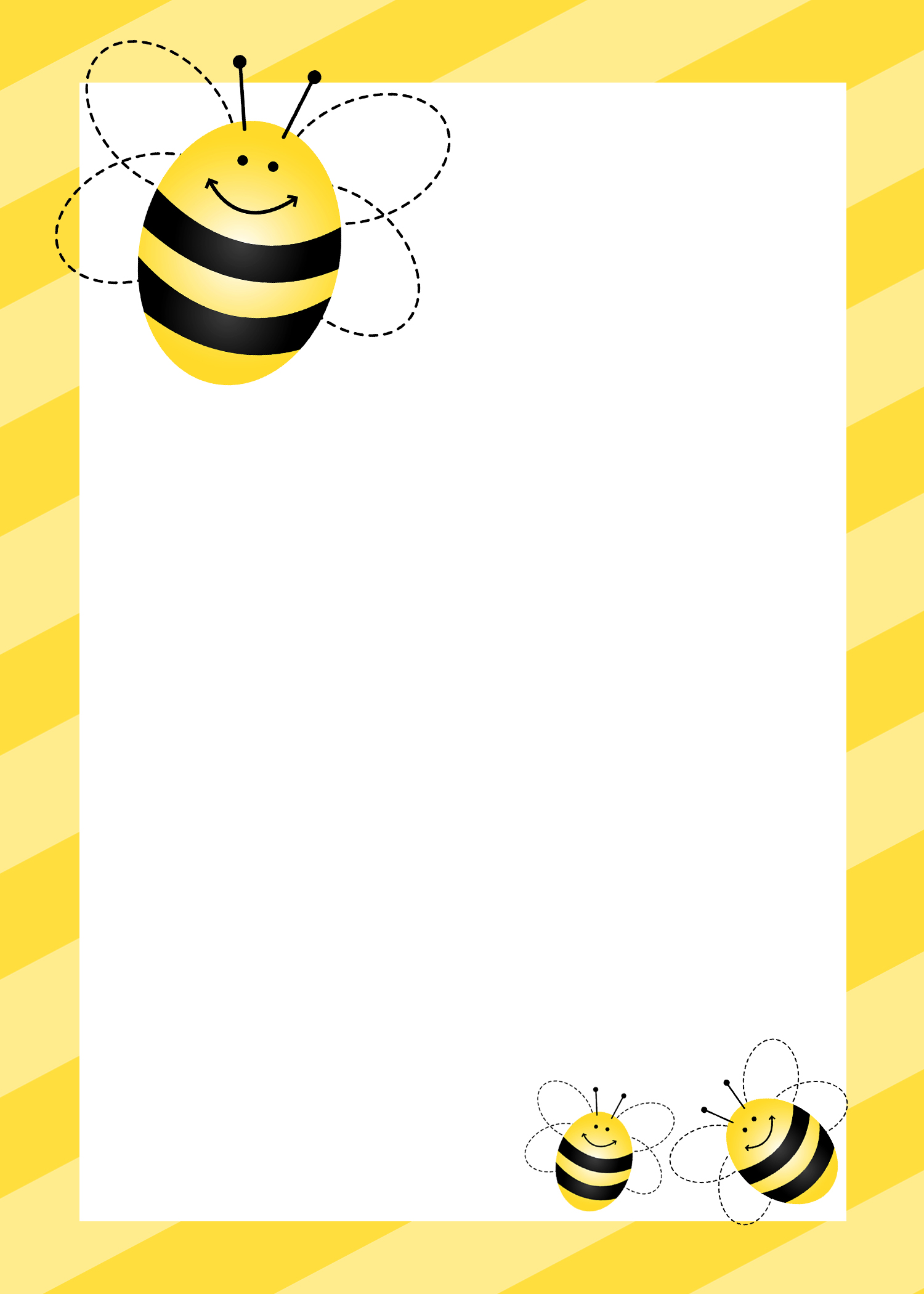 Looking for free clipart for a spelling bee award clip art freeuse library Bee Border Cliparts - Cliparts Zone clip art freeuse library