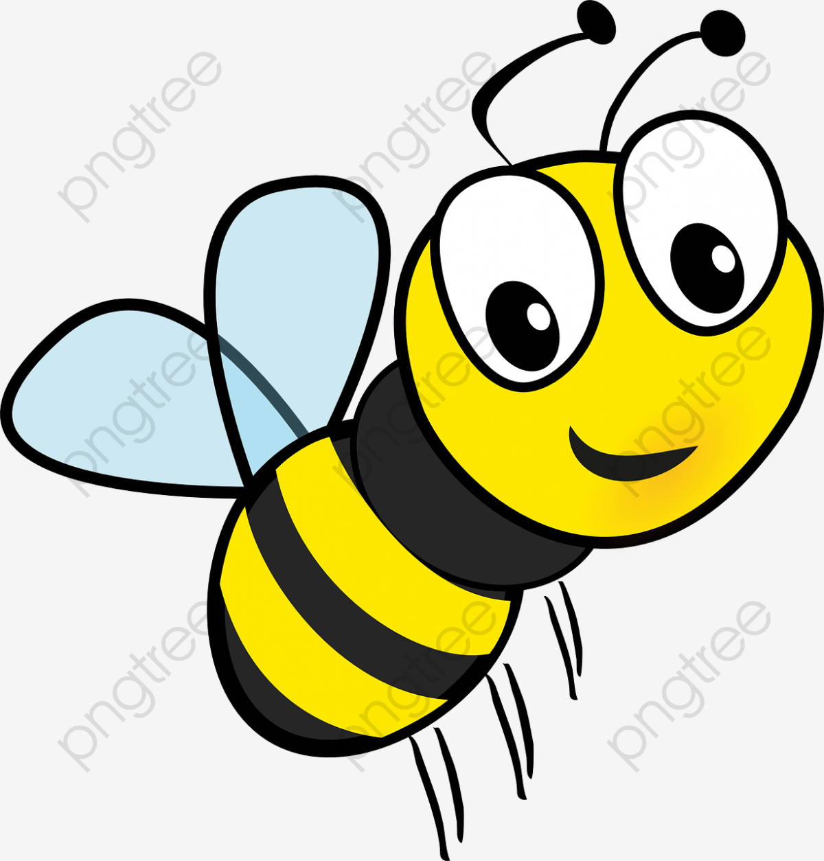 Flying Cartoon Bee, Cartoon Clipart, Bee Clipart, Flight PNG ... graphic stock