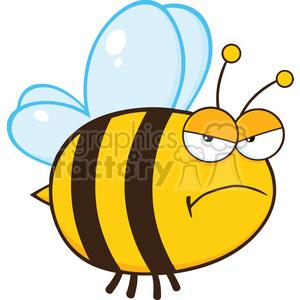 Bee cartoon clipart clipart royalty free 6547 Royalty Free Clip Art Angry Bee Cartoon Mascot Character clipart.  Royalty-free clipart # 389473 clipart royalty free