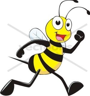 Bee clipart active png royalty free stock Jogging Bee - Bee - Animals - Buy Clip Art | Buy Illustrations ... png royalty free stock