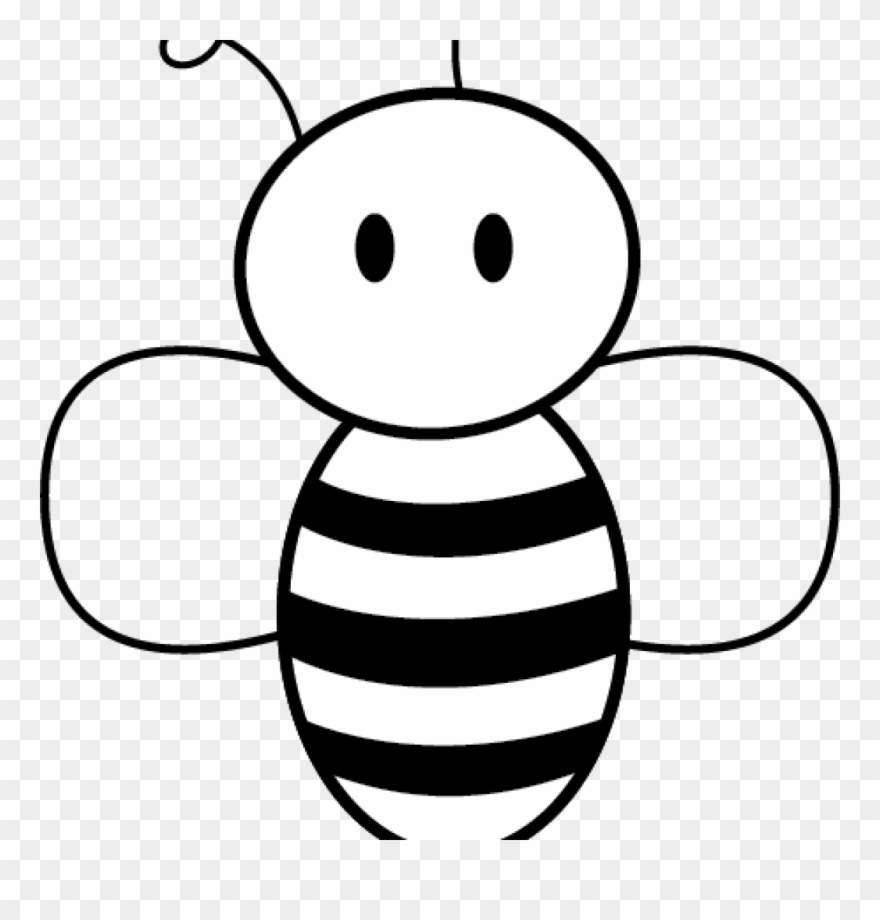 Cartoon honey bee clipart black and white graphic free stock Honey Bee Pictures Clip Art Free Bee Clipart Free Clipart - Easy ... graphic free stock