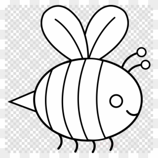 Bee clipart coloring vector free stock Free PNG Bee Black And White Clip Art Download - PinClipart vector free stock
