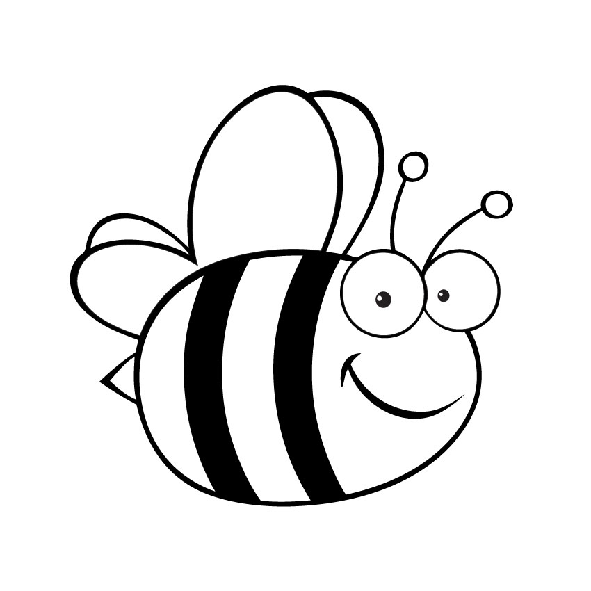 Bee clipart coloring jpg royalty free stock Free Picture Of Bumble Bees, Download Free Clip Art, Free Clip Art ... jpg royalty free stock