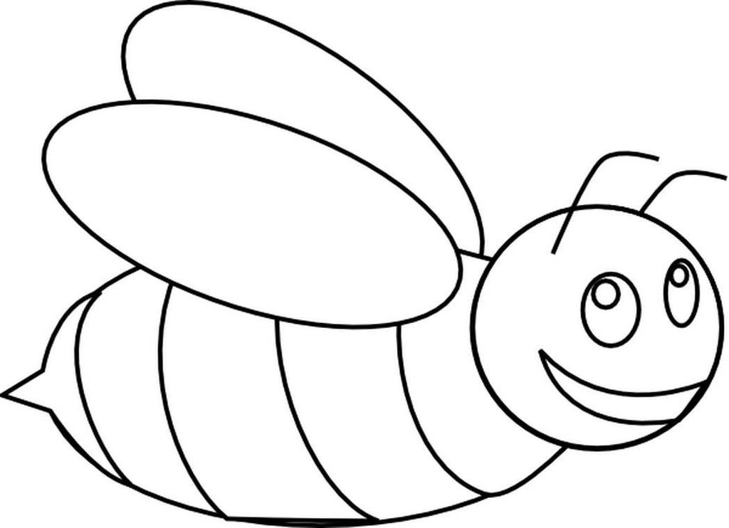 Bee clipart coloring picture free Honey Bee Clipart Refrence Valid for Preschool - Clipart1001 - Free ... picture free