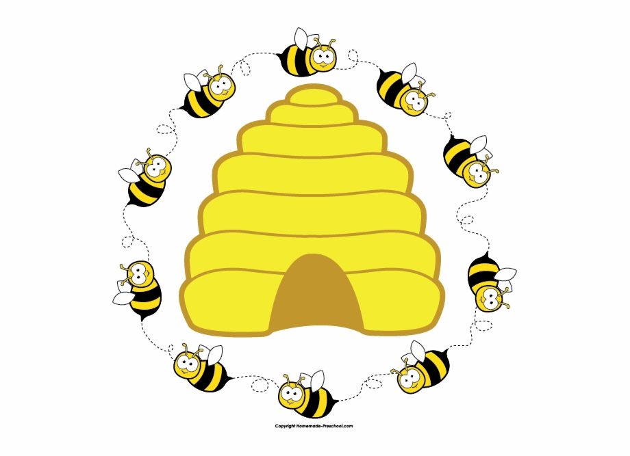 Bee hie clipart picture black and white library Bee Clipart - Clip Art Bee Hive Free PNG Images & Clipart Download ... picture black and white library