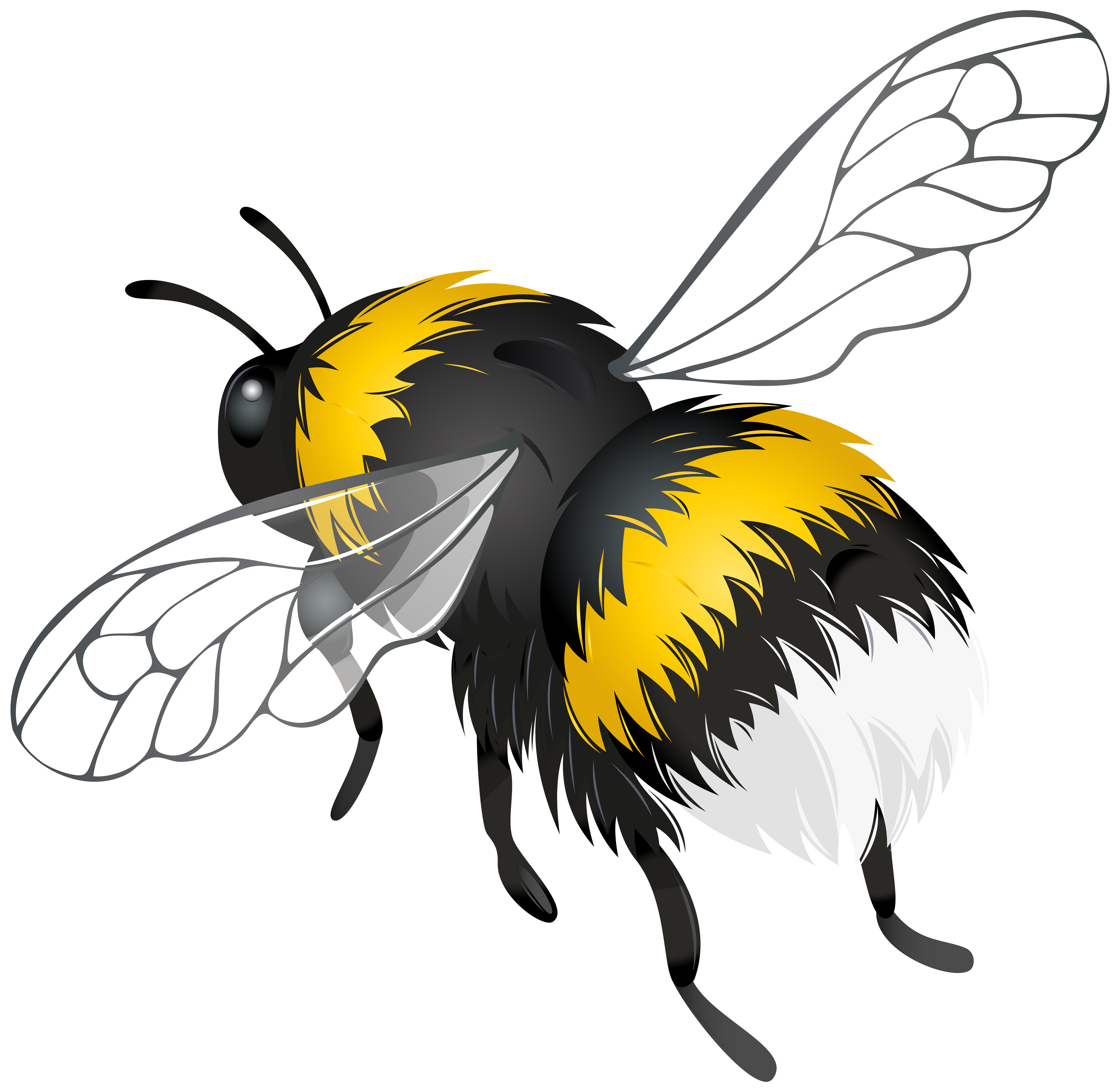 Bee clipart grey library Flying Bee PNG Clipart - Best WEB Clipart library