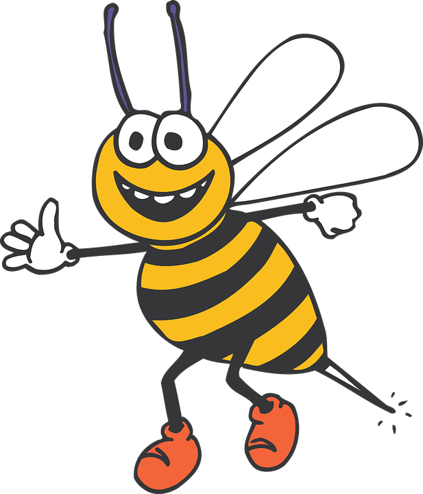 Bee clipart laughing clip art stock 37309-bee happy insect stripes yellow black standing smiles ... clip art stock
