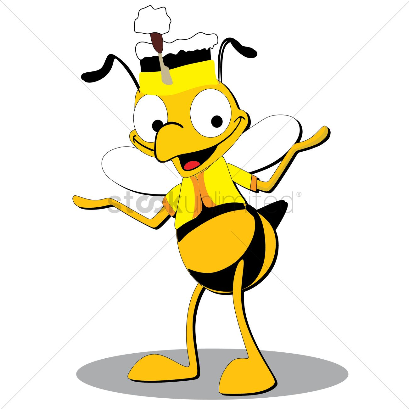 Bee clipart laughing svg library Honeybee cartoon laughing Vector Image - 1489423 | StockUnlimited svg library